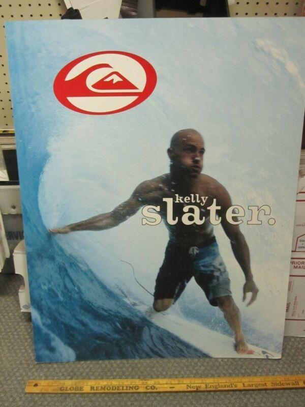 QUICKSILVER Surf Kelly Slater Skateboard Tony Hawk 2 Sided Display New Old Stock