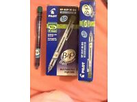 Pack of 10 green pilot ball point pens