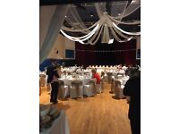 Great quality - 182 Hessian chair sashes and 13 Hessian table runners