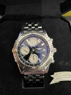 BREITLING Chronomat A13352 Chronograph blue Dial Automatic watch boxed