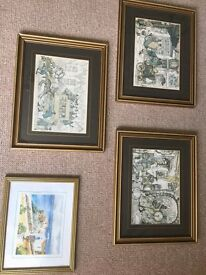 3 Unusual Anton Pieck prints 12 pounds / each Together ONLY 25 pounds !