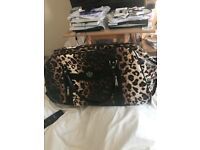 Leopard print suitcase/hold-all