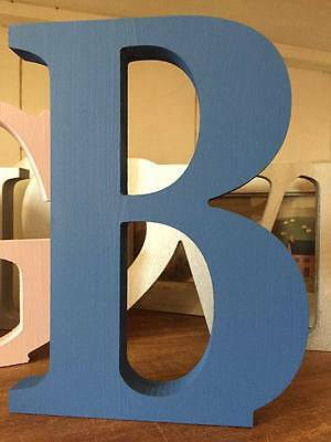 Bright Blue 20cm Large Wooden Letters, Numbers and & Signs (Ampersands)