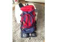 BACKPACK. Samoa Ultra 75L. Mosquito net and other accessories. Almost new. £25.