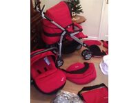 Silver cross pram car seat and isofix