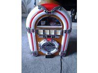 Steepletone mini jukebox am/fm radio and cd player