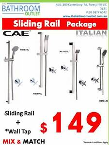 $149 Sliding Rail Shower plus tap Package Unbeatable Price!!! Forest Hill Whitehorse Area Preview