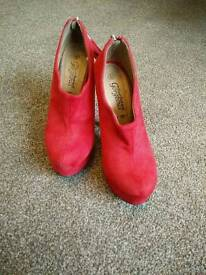 Red high heels size 5