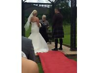 Wedding dress uk size 14 & swarovski crystal veil