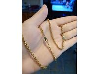 9ct gold belcher chain. Charissima