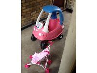 Little Trikes sit in car