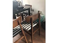 Four Mid Century Modern Vintage Retro Chairs