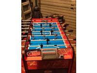 Football table game free standing excellent condition