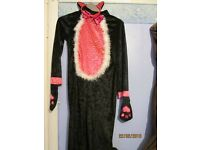 black cat fancy dress outfit age 8/10 £3 includes ears great for party or play