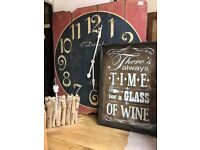 Its time for a glass of wine glass wall art