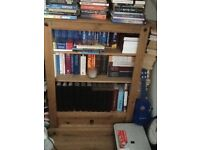 Wooden bookcase with drawer