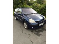 Renault Clio Dynamique. 1.2 Liter. 16V. Petrol. 3dr. Ideal first car
