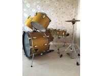 1970's Promuco Acoustic Drum kit -custom built & zildjian cymbals &High hat