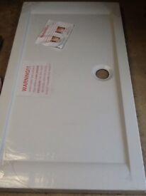 New, Large rectangular White Shower Base / plastic