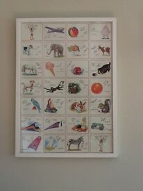 A to Z framed picture with retro theme