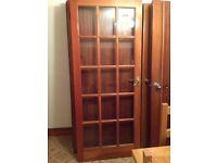 """15 Glass Panel Solid Wood Door 78"""" x 30"""" (with Handles)"""