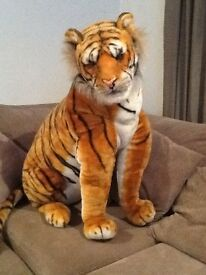 Giant soft toy tiger