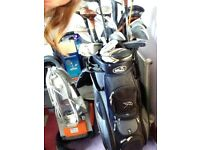 golf clubs and bag ect