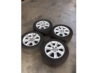 4 x 15 inch Audi wheels (tyres and alloys)