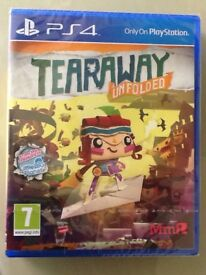 'Tearaway Unfolded' for the PS4 - Brand New and Unopened