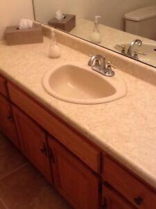 comptoir salle de bain avec lavabo