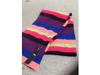 Girls Marks and Spencer striped scarf with tags