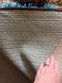 Large hard backed shagpile rug