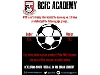 Black Country Academy FC Under 13's looking for talented committed outfield players