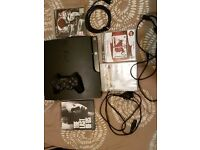 PlayStation 3 (Used) includes 4 Games !!! Good working condition :)