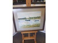 framed water couler holbrook creek signed