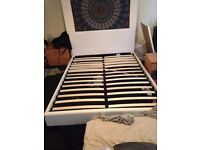 White kingsize bed frame good condition