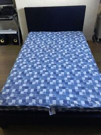 4ft bed with headboard, great condition (mattress included)