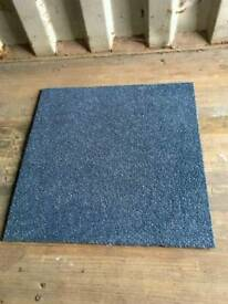 Blue 50cm x 50cm Heavy Duty Contractor Carpet Tiles - Twenty thousand available (Price is per tile)