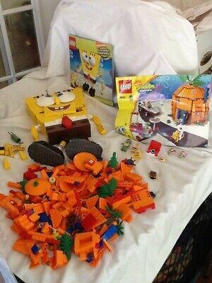Lot LEGO 3826 Spongebob Squarepants Build-A-Bob Set & 3834 Bikini Bottom parts