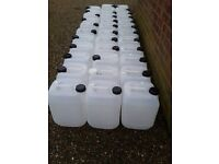 10 Ltr water containers ideal for gardeners . horse livery .caravaners
