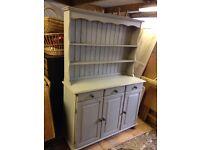 Grey Painted Pine Dresser