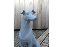 Proud Sitting Dog ornament in Matt light grey colour, made out of ceramic cast.. For sale £40