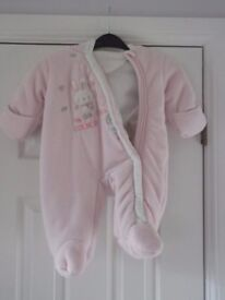 3-6m pink snow suit as seen in pic collect or delivery Stonehaven