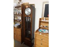 Vintage oak Grandfather Clock (Needs Attention) LOW COST MOVES 2nd Hand Furniture STALYBRIDGE SK15