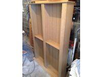 Argos Maximus Oak CD and DVD media storage unit/ bookcase
