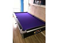 Purple pool recovered table