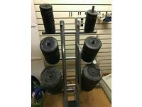 Body pump weight rack