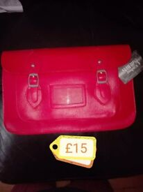 Post box red satchel new with tags