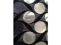 """VERY WIDE CHINIELLE MODERN CURTAINS EYELETS FULLY LINED 90"""" DROP"""