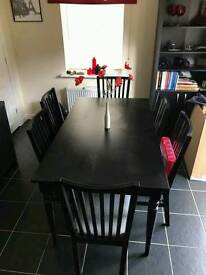 Ikea Extending Dining Table & 6 Chairs